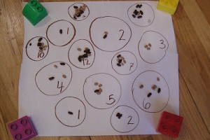 The Littlest Bean Counter: Preschool Math Activity