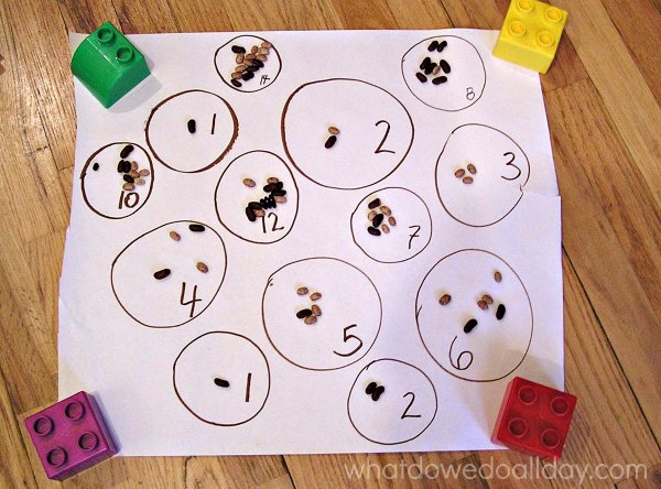 Number counting activity for preschoolers