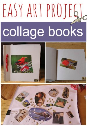 Collage books are an easy art project for kids