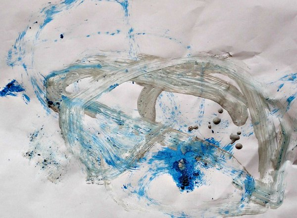 Shiny art themed painting project with kids