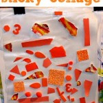 Sticky Paper Art Activity for Toddlers and Preschoolers
