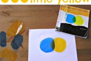 Book activity that teaches color mixing