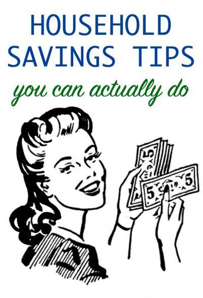 Savings tips for households