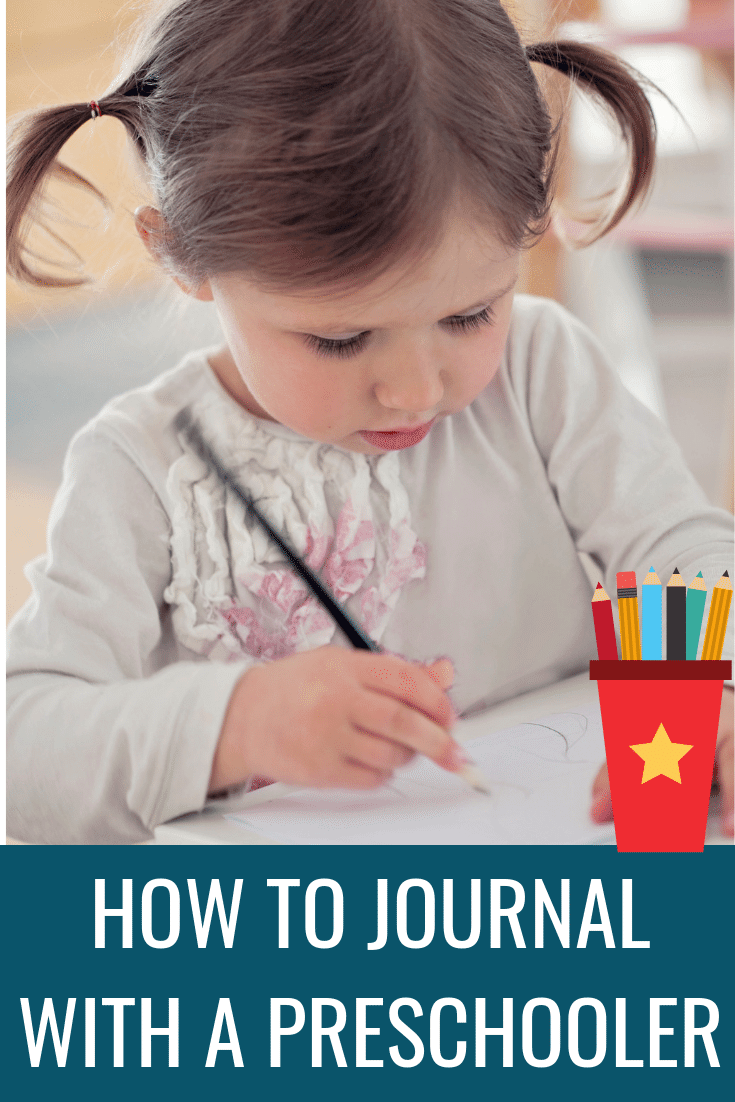 Preschool journaling practice writing