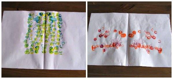 Symmetry art project for kids