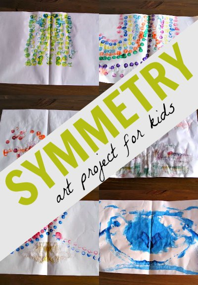 A symmetry art project is so fun for kids and sneaks in a little math learning, too.