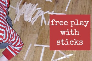 Playing with wooden craft sticks is a great indoor activity for kids.