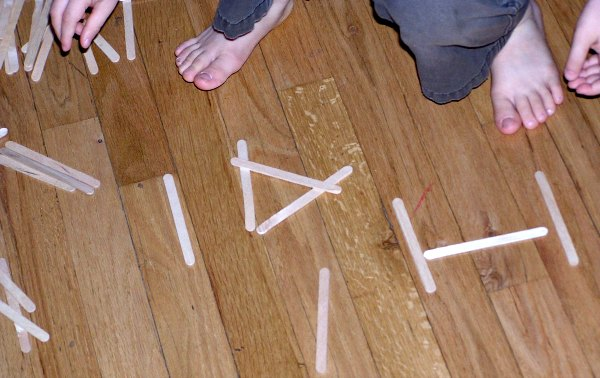 Create letters with wooden craft sticks a great indoor activity for kids