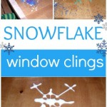 DIY Snowflake Window Clings