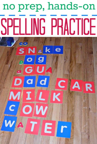Spelling practice without fancy games or worksheets