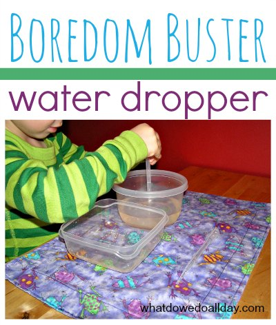 Great boredom buster for kids! Water dropper transfer activity.