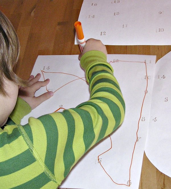 Make your own connect the dots for kids