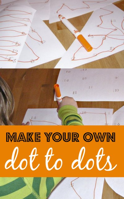 Make your own connect the dot activity