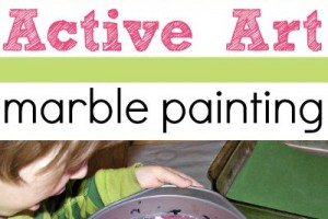 Try an active art project for kids and paint with marbles.