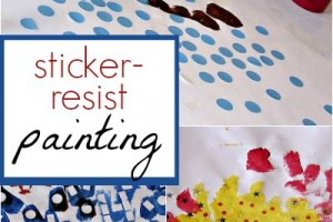 The Art of Resistance: Sticker Resist Painting