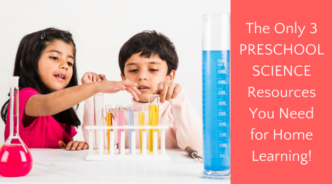 Preschool science resources for STEM and STEAM learning at home