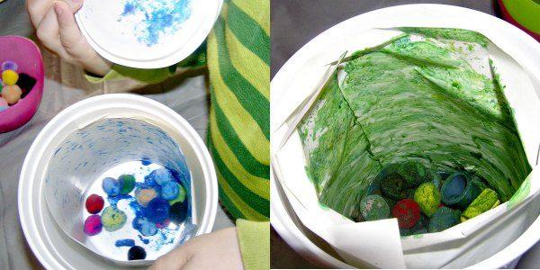 Opening the shaken art container