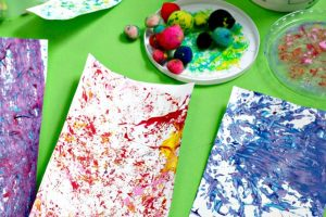 Fun active art container painting.