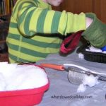 Indoor Winter Activity for Kids: Play with Snow Inside