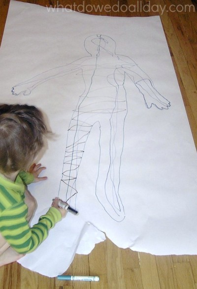 Human Body Arts And Crafts For Preschool