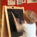Painting With Water to Make Chalkboard Art