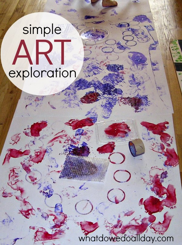 Super simple and easy art exploration for kids