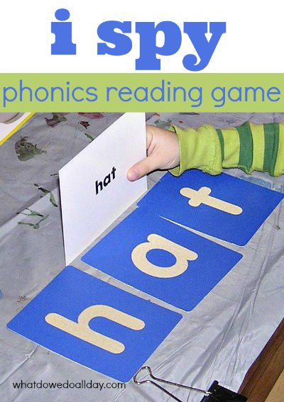 Turn i spy into a simple phonetic game to teach reading and spelling