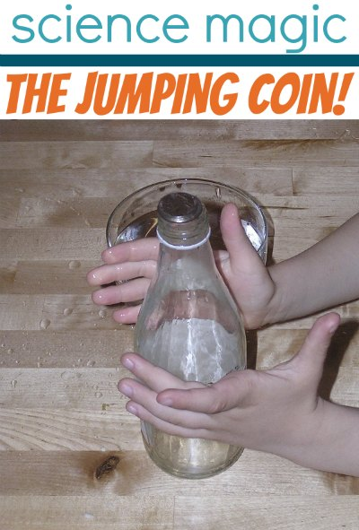 Quick science project for kids: the magic jumping coin