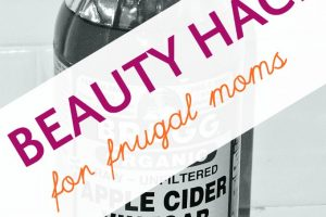frugal beauty hack with apple cider