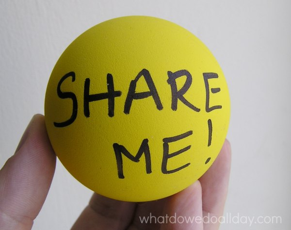 How to use a sharing ball with kids.