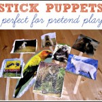 Puppet Play {Homemade Stick Puppets}