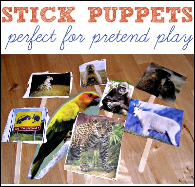 DIY homemade puppets from magazines and craft sticks