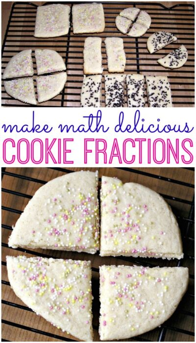 Teach fractions with cookies! Fun math idea for kids