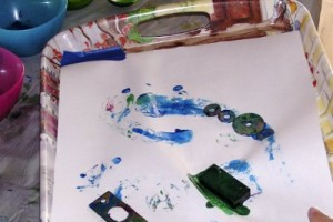 Painting with magnets - a science and art activity