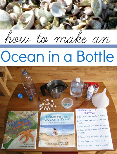 Make an ocean in a bottle.