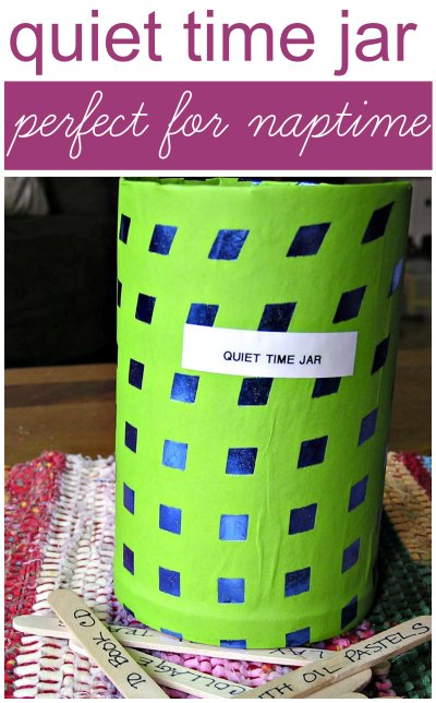Help kids stay quiet during siblings nap time with quiet activities