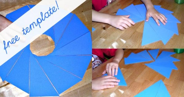 Free template for Montessori blue scalene triangles