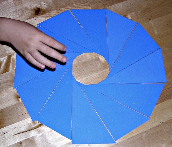 Homemade Montessori triangles are easy to make and are a geometry activity for kids