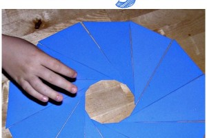 homemade montessori triangles