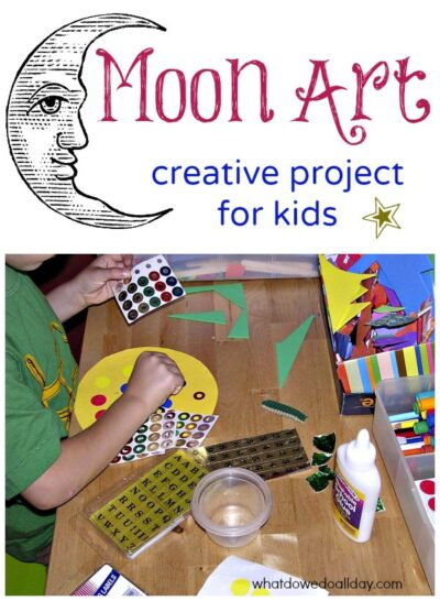 Fun activity! Create moon art with kids based on the months of the year.