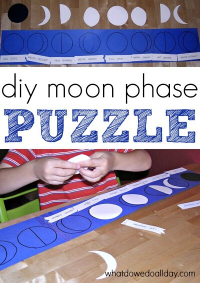 homemade moon phase puzzle activity for kids
