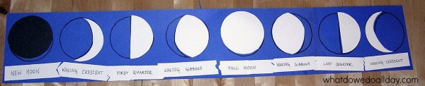 DIY moon phase puzzle for kids