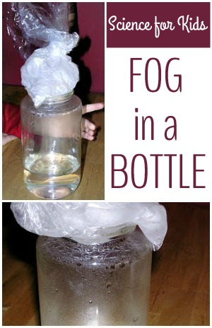 How to make fog in a bottle. Easy science for kids.
