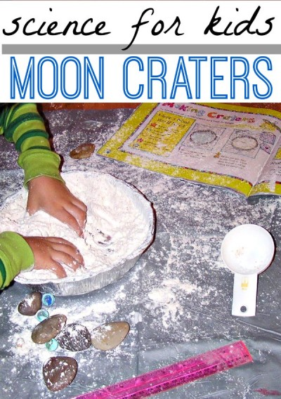 Make moon craters with kids. A fun science project to learn about the moon.