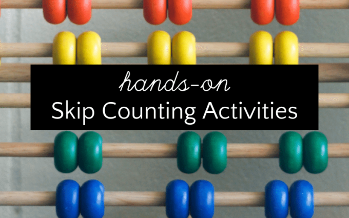 Abacus for hands on skip counting practice