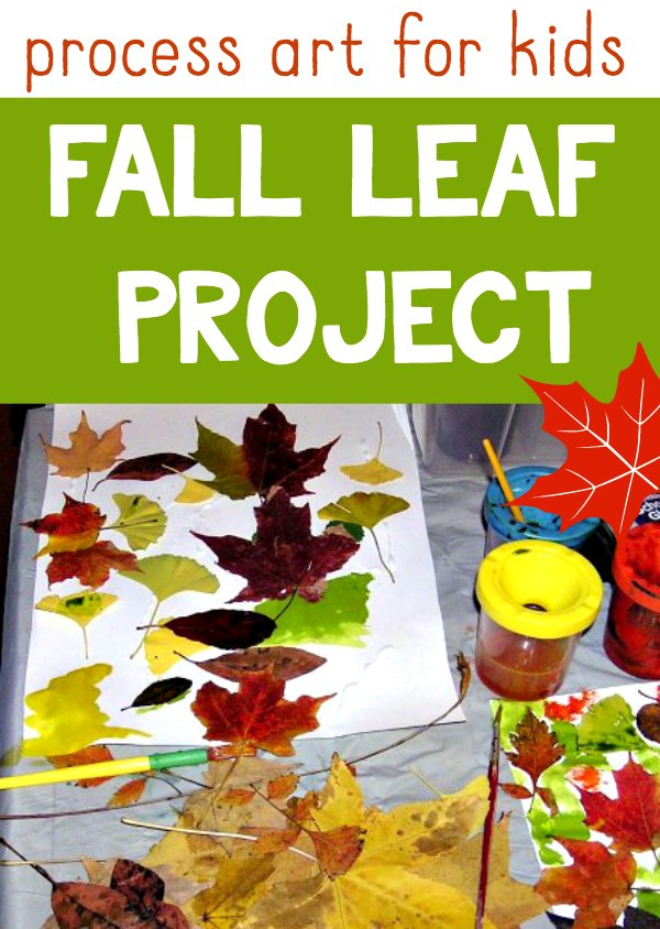 Fall leaf art project with glue and liquid watercolors