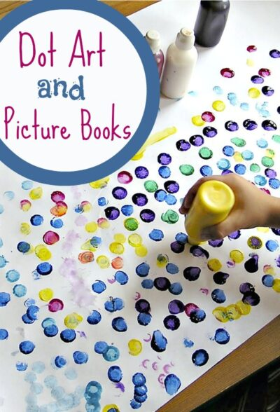 Books about dots and dot art projects for kids