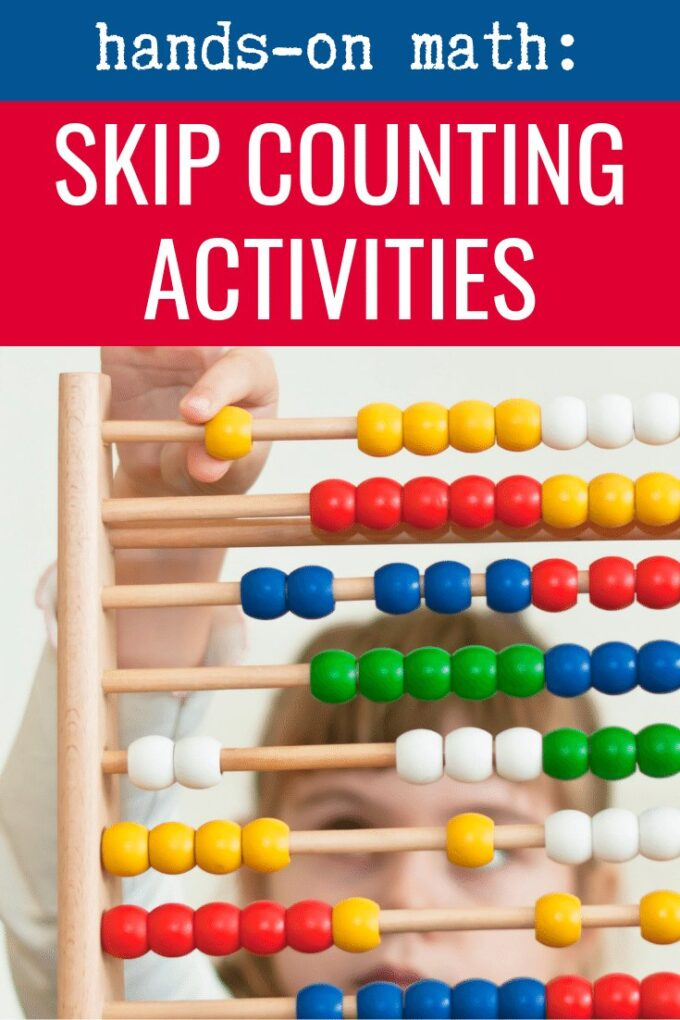 Skip counting on an abacus