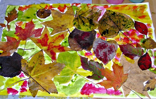 Simple fall leaf art project for kids
