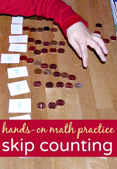 A fun skip counting activity to make hands on math practice fun.